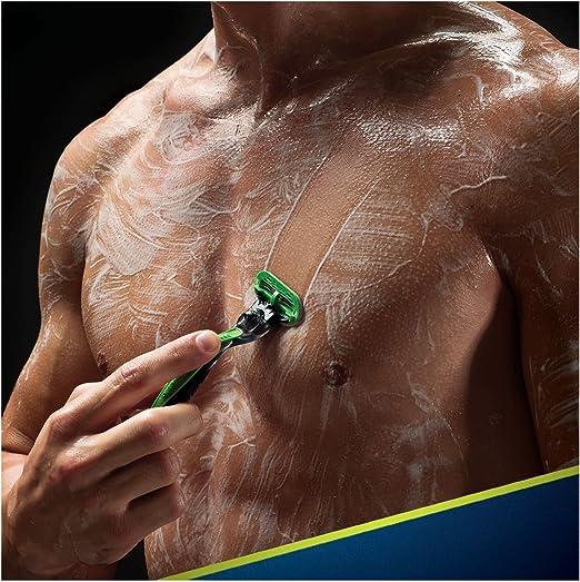 Gillette BODY - Maquinilla de afeitar 3 hojas, Para hombre, Verde ...
