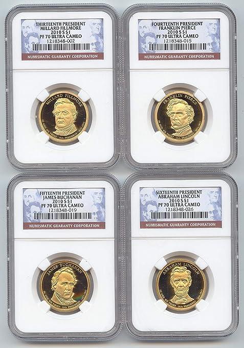 2010 D Presidential U.S Dollar Mint Set ~ Filmore Pierce Buchanan Lincoln No S