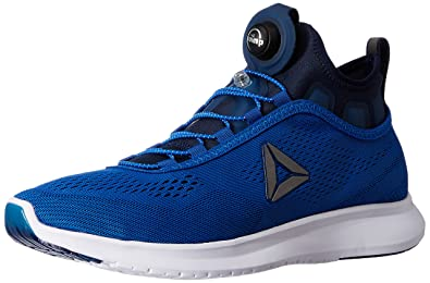 52c163092 Reebok Men's Pump Plus Tech Awesome Blue, Navy and White Running Shoes - 11  UK
