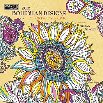 Amazon.com : The LANG Companies WSBL Bohemian Designs - Coloring ...