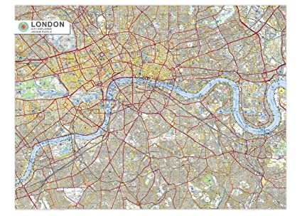 Amazon.com: London City Map Jigsaw Puzzle - 1000 pc. jigsaw puzzle ...