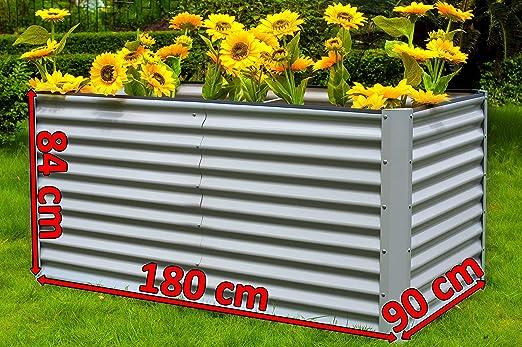 OUTFLEXX sopraelevata, Aluminio, Plata, 180 x 90 x 84 cm: Amazon ...