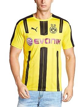 0e8e52d54c559 Puma BVB Home F6 Men s Replica Football Shirt-Yellow Black