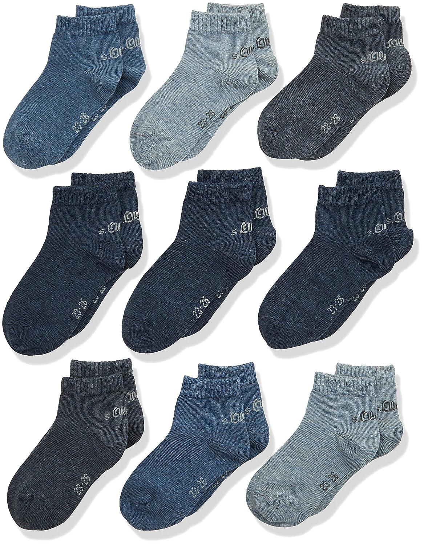 s.Oliver Socks Jungen Sneakersocken S21010 9er Pack