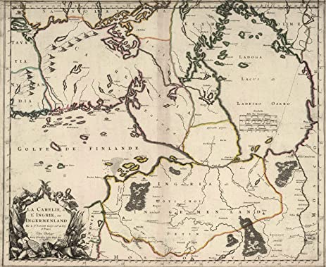 Amazon world atlas 1703 ingermenland finland estonia world atlas 1703 ingermenland finland estonia historic antique vintage map reprint gumiabroncs Gallery