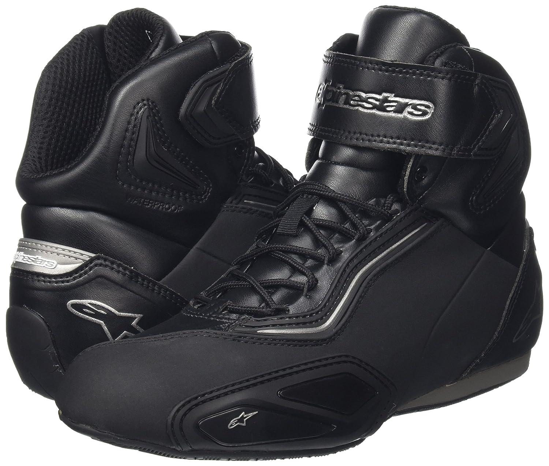 Motorcycle Alpinestars Faster-2 Shoes Black White 45 US11.5 UK