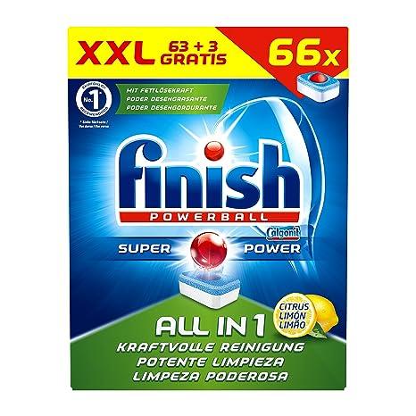 Acabado All in 1 Citrus pastillas para lavavajillas XXL 1er ...
