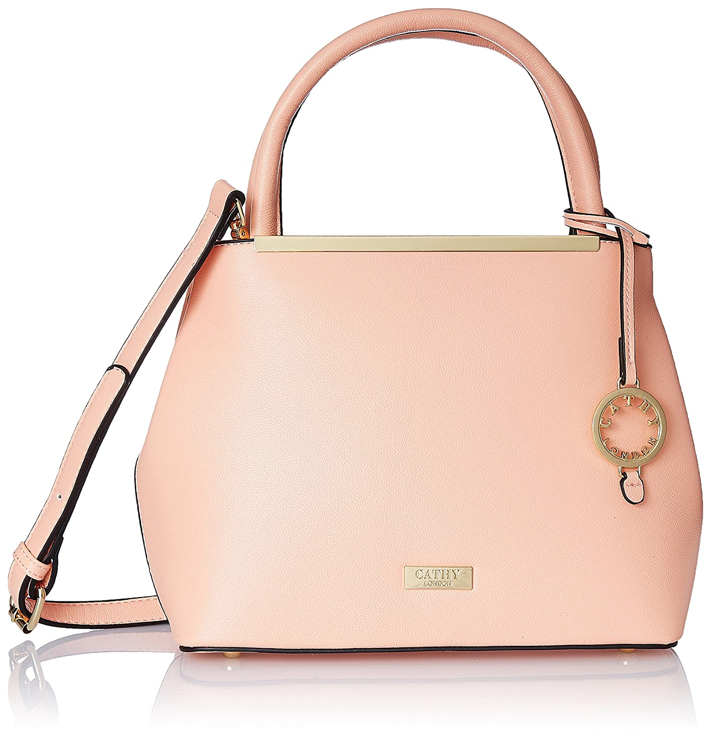 34240ac569 Cathy London Women's Handbag, Colour- Peach, Material- Synthetic Leather:  Amazon.in: Shoes & Handbags