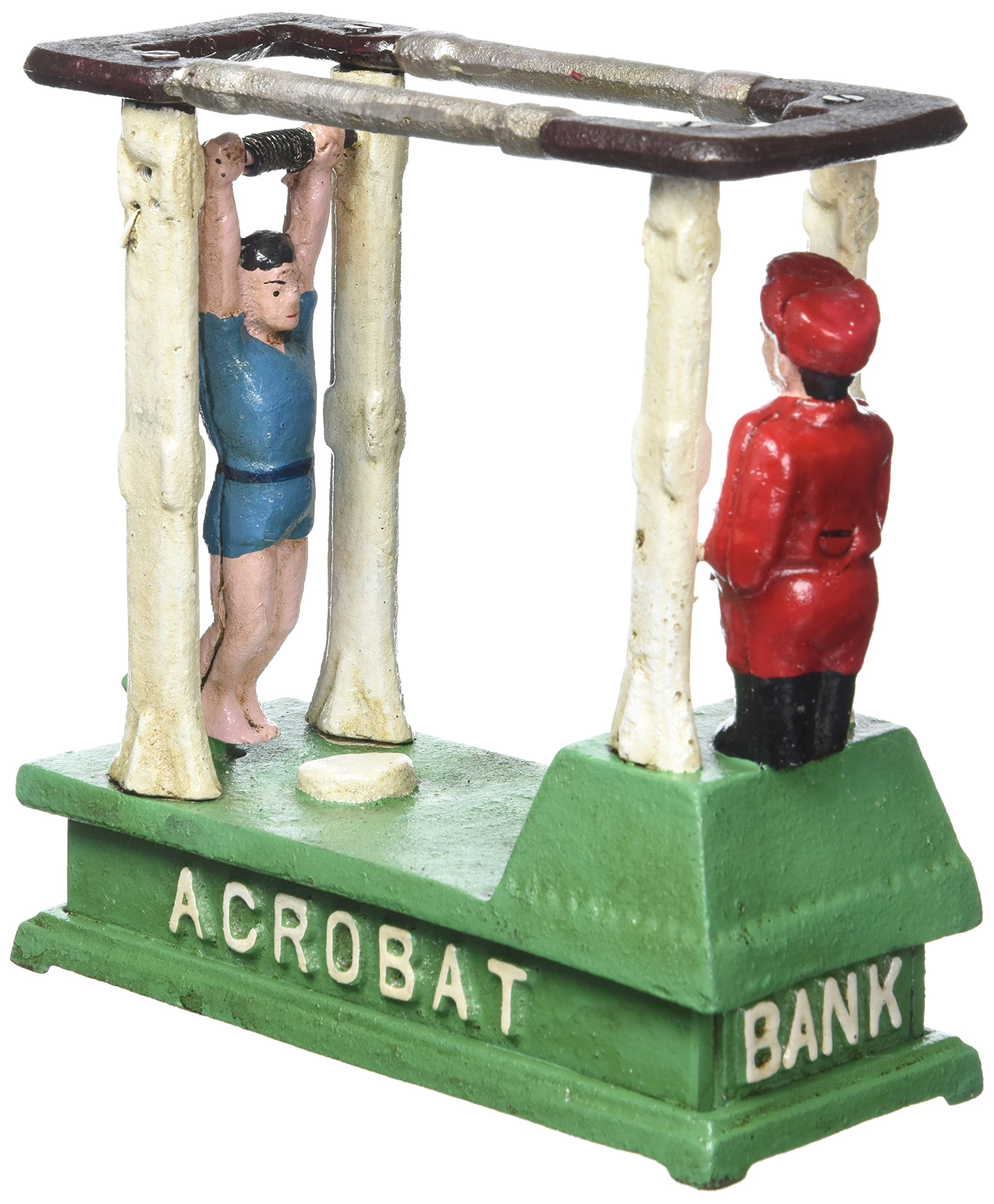 Design Toscano The Acrobat Collectors' Die-Cast Iron Mechanical Coin Bank by Design Toscano (Image #1)