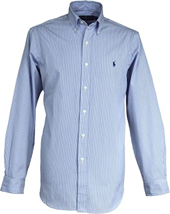 Ralph Lauren camisa de rayas de Bengala Fine para hombre azul ...
