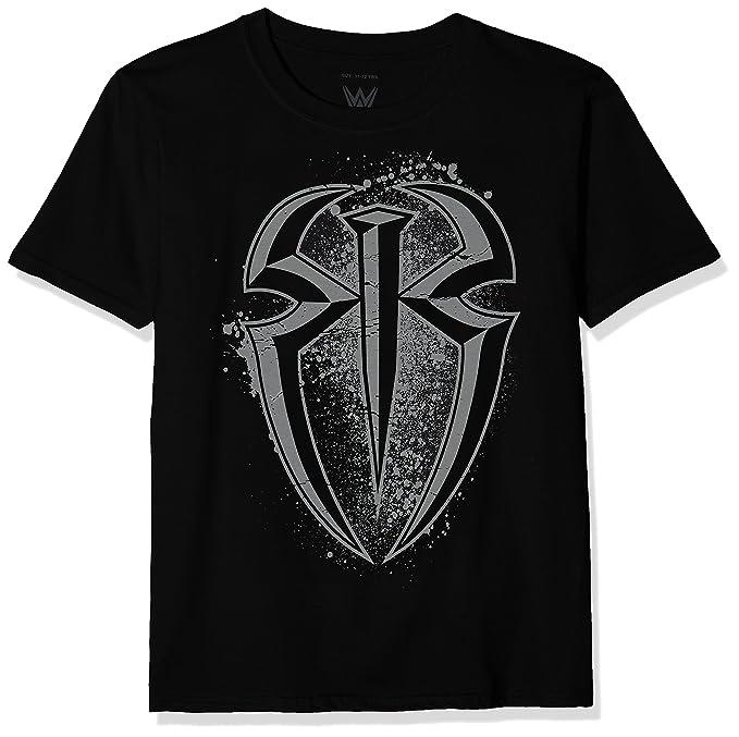 WWE Reigns Splatter Logo, Camiseta para Niños, Negro (Black Blk), 5
