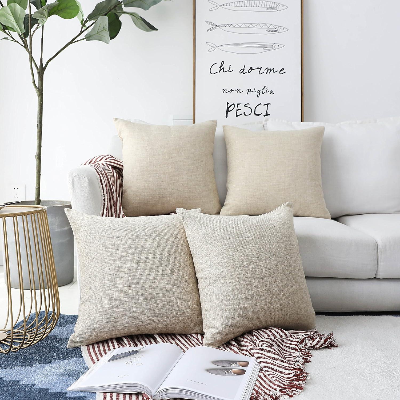 Square Pillow Pad Soft Cover Cases Cushion Throw Sofa Plush Mat Bed Chair
