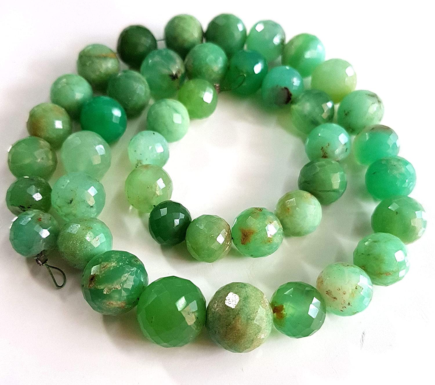Chrysoprase  Beads Strand of 14 Inches