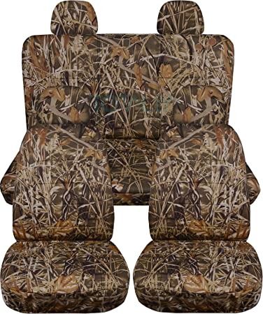 amazon com camouflage car seat covers w 4 2 front 2 rear