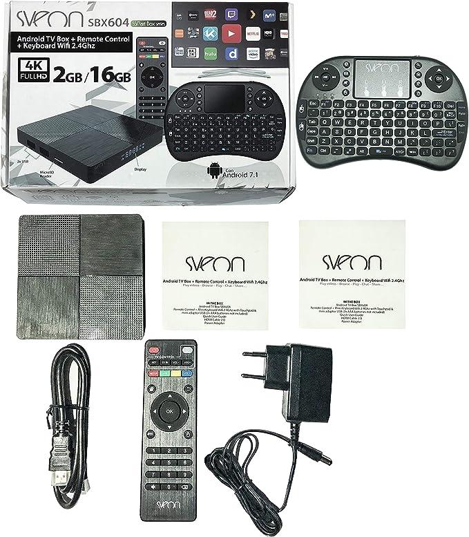 Sveon SBX604 - Android TV Box 2GB/16GB: Amazon.es: Electrónica