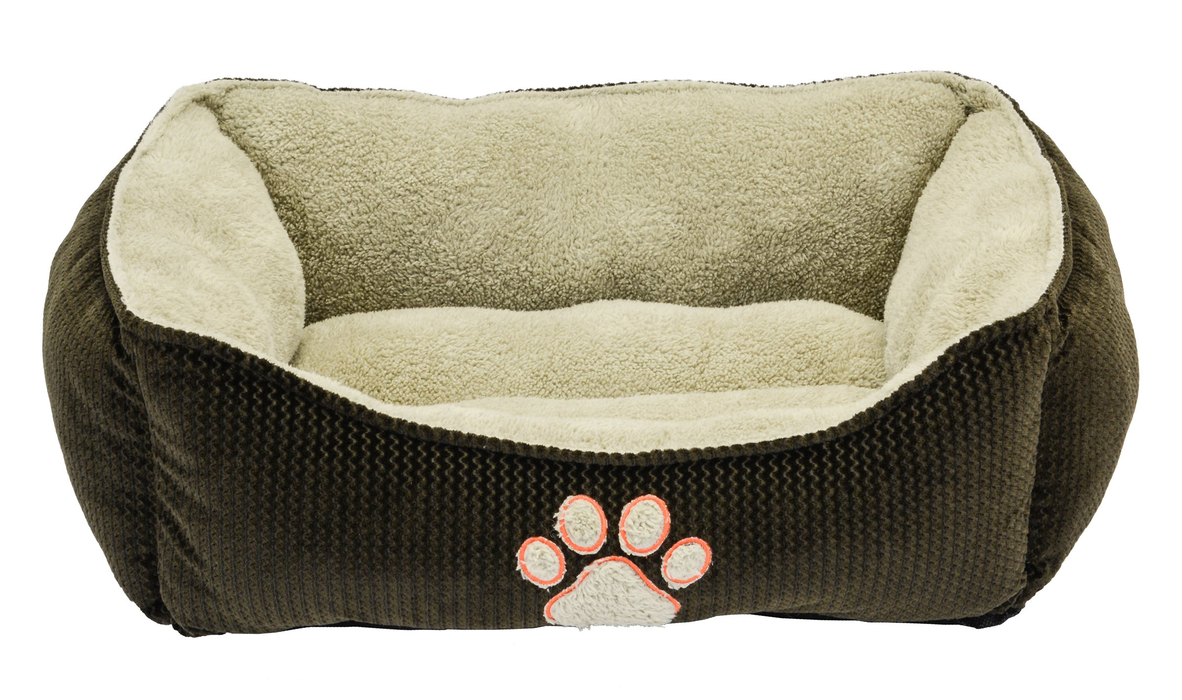 Dallas Manufacturing Co. 25'' Textured Box Dog Bed Brown
