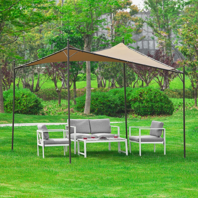 SoBuy OSS01 - Toldo móvil tipo cenador para jardín exterior, marquesina con estructura metálica y techo: Amazon.es: Jardín