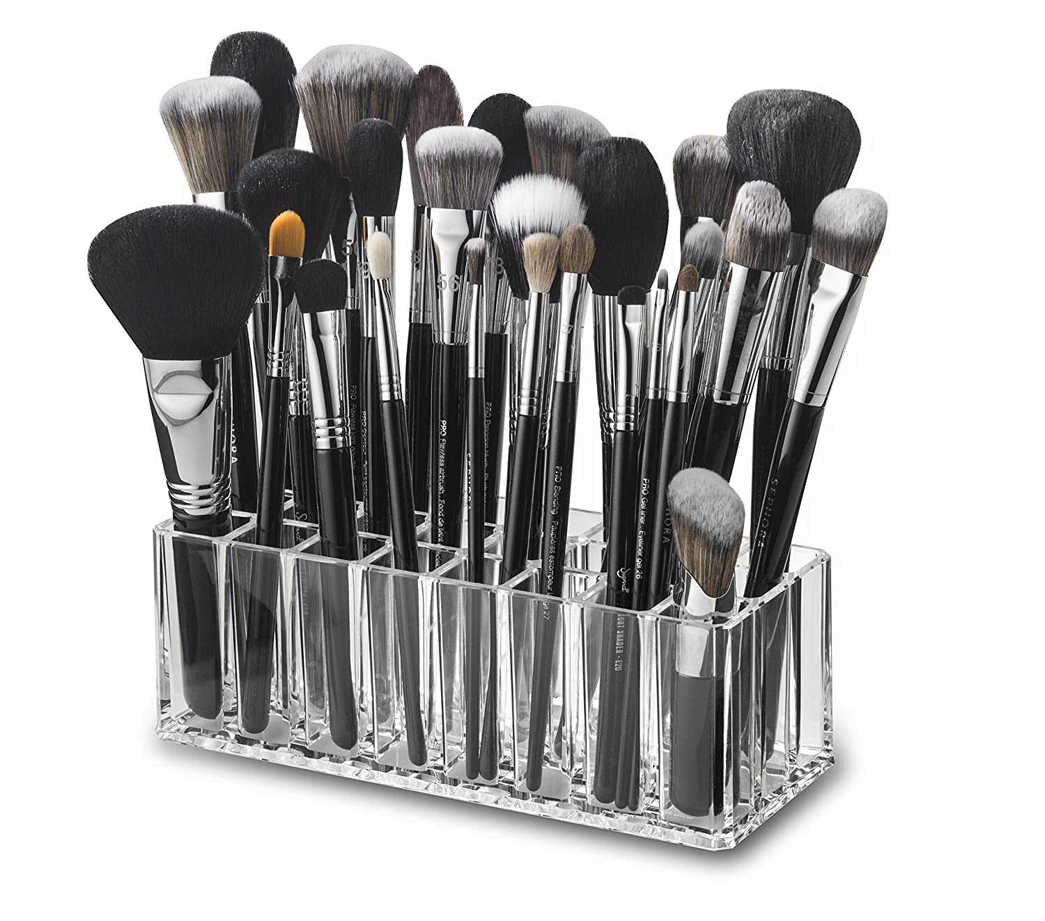 byAlegory Acrylic Makeup Brush Organiser | 24 Spaces PC-03-A-T