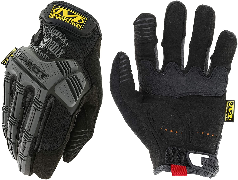 Mechanix Wear M-Pact Gloves XX-Large, Black//Grey
