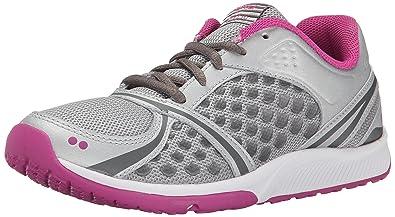 RYKA Women's Kinetic Training Shoe, Chrome Silver/Rose Violet/Metallic  Steel Grey,