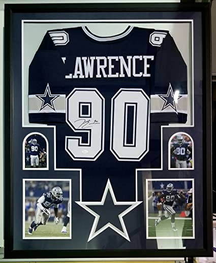 detailed look fe92d 8658d DeMarcus Lawrence Autographed Signed Jersey Framed Dallas ...