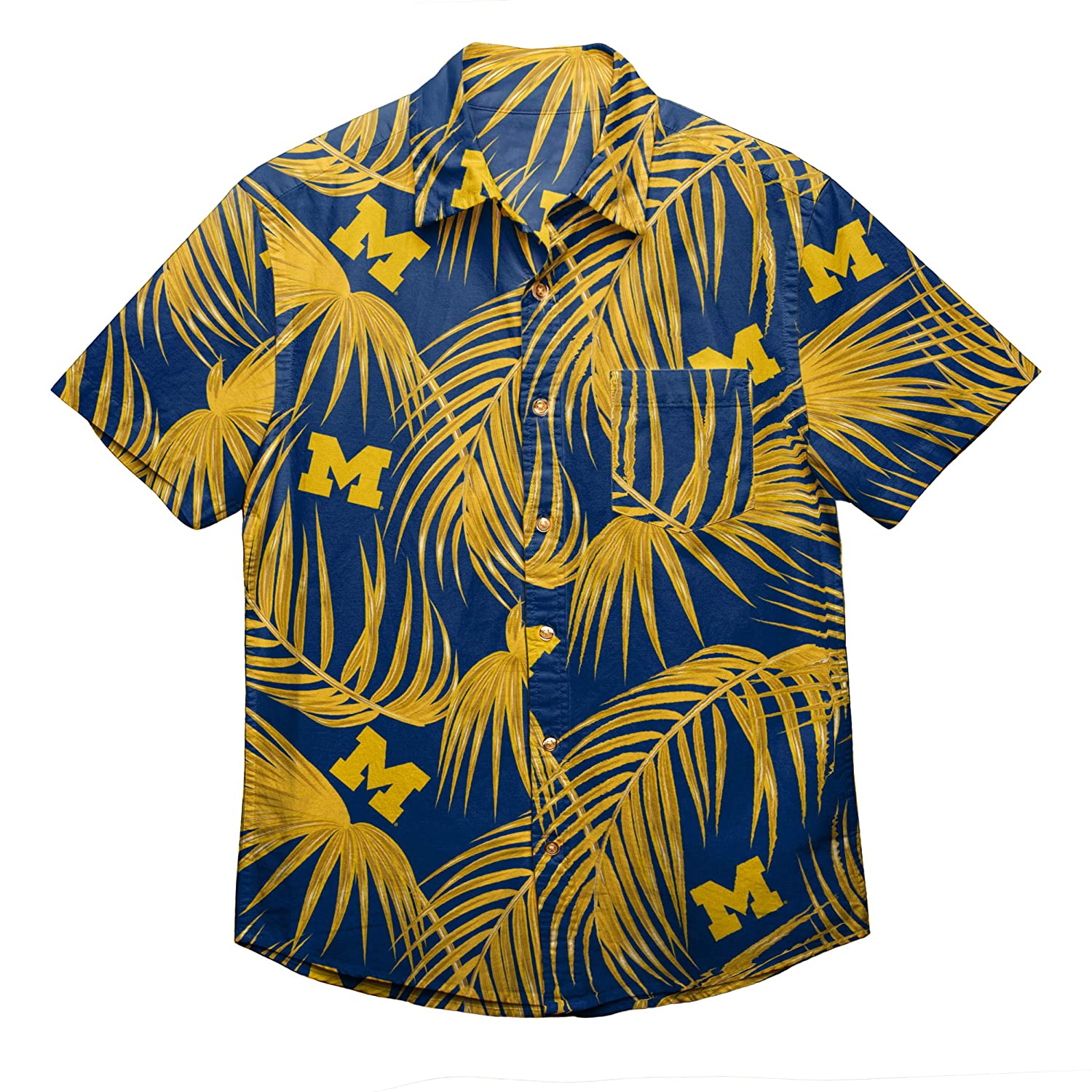 Michigan Wolverines XXX Large NCAA Mens Floral Shirt