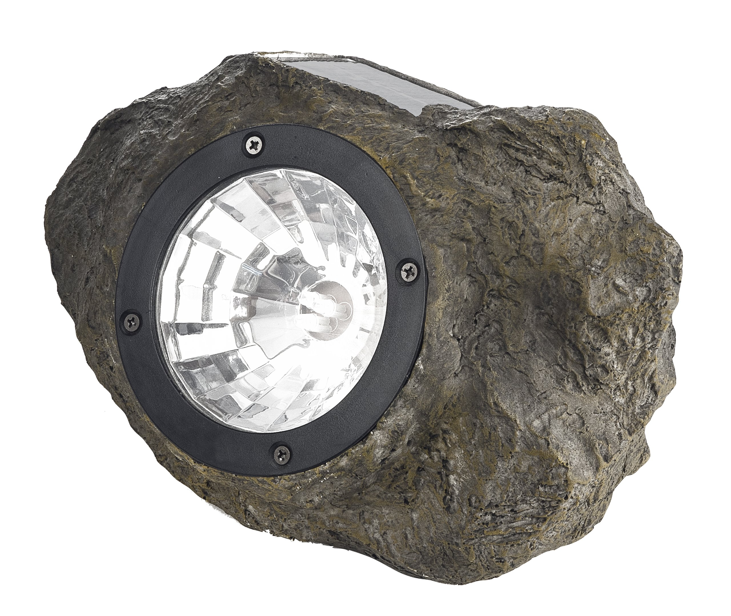 Paradise by Sterno Home Solar Polyresin Rock Spot Light, Stone