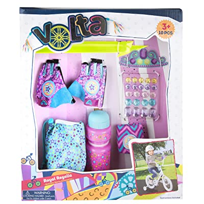 Volta Girls Bike Accessories - Royal Regalia Cut-Out Gloves with Wristband and More - 10 Pieces - Ages 3 and Up: Toys & Games