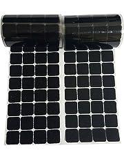 Points de crochet et de boucle Diamètre 2.5cm 168 paires de pièces carrées auto-adhésives carrées noires