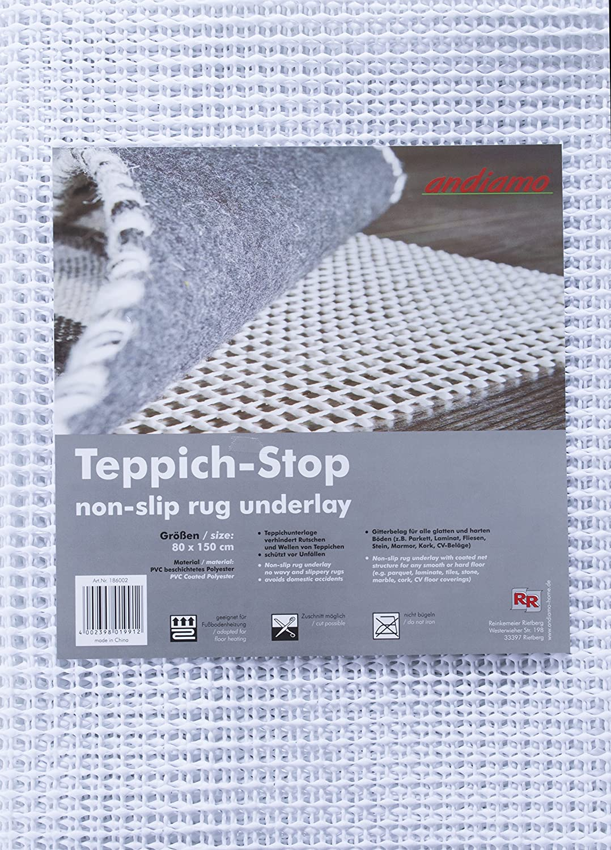 Teppich-Stop Antirutschmatte Teppichgleitschutz Teppichunterlage ...