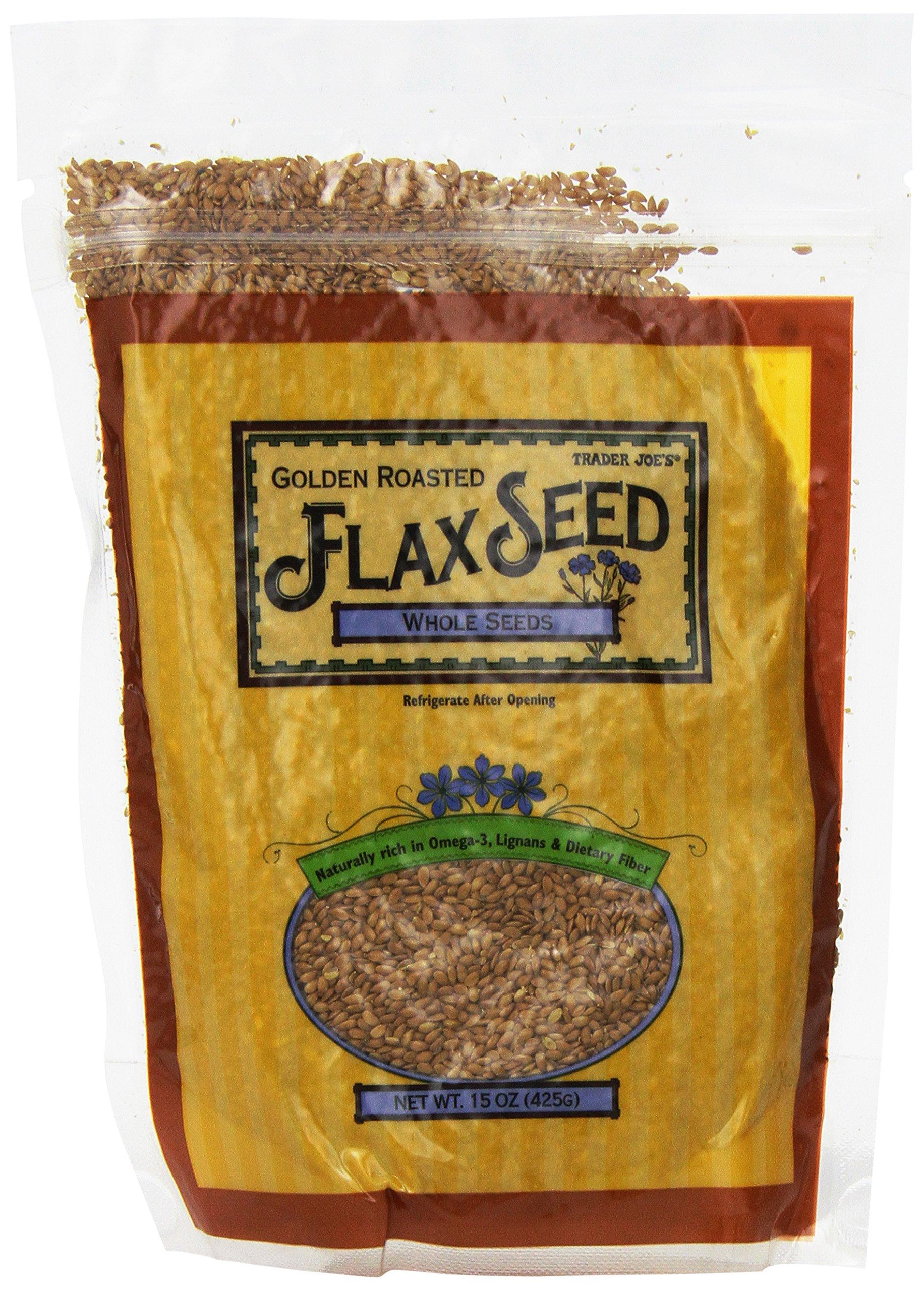 Trader Joe's Golden Roasted Flax Seeds Whole Seeds 15 oz(425g)