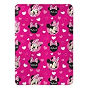 Jay Franco Plush Travel Blanket, Minnie Mouse