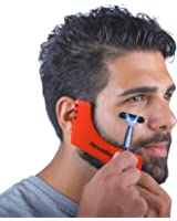 Revobeard Beard Styling Template/Stencil For Men Lightweight And Flexible One Size Fits All Curve Cut, Step Cut, Neckline & Goatee Beard Shaping Tool