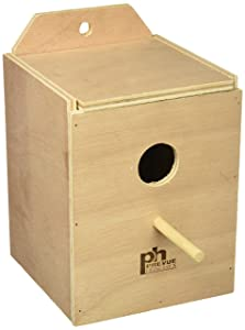 Prevue Pet Products BPV1102 Wood Inside Mount Nest Box for Birds, Lovebird
