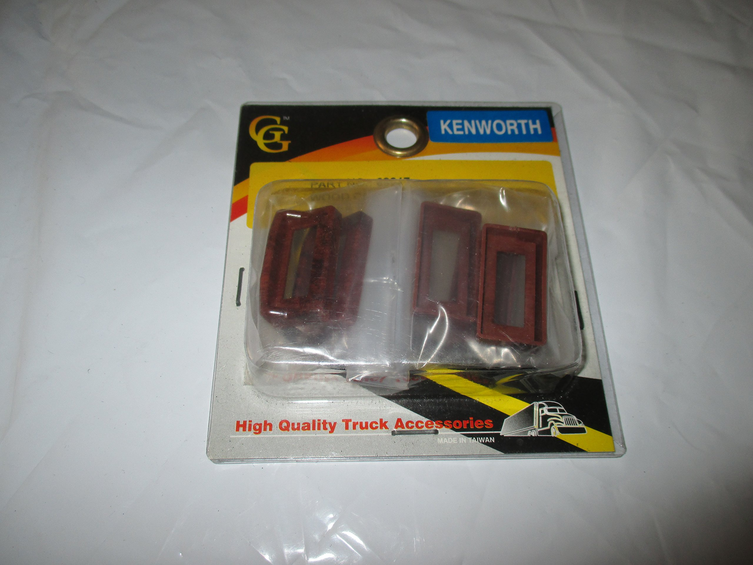 Grand General #68247 Wood Color Switch Bezel Cover W/visor Set of 6 for Kenworth by Grand General