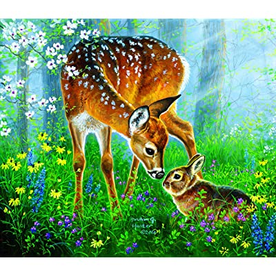 Friendly Forest 200 pc Jigsaw Puzzle by SunsOut: Toys & Games