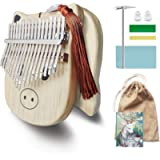 Kalimba thumb piano 17-key cartoon pig-shaped portable thumb piano is the best music gift for family, friends, music…