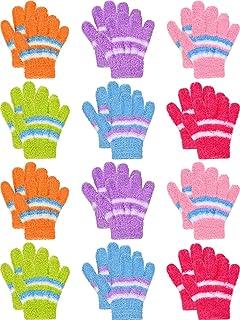 272e6c9fdd3c 12 Paires de Gants en Pleins Doigts d Hiver pour Enfants Gants de Mitaines  Chauds