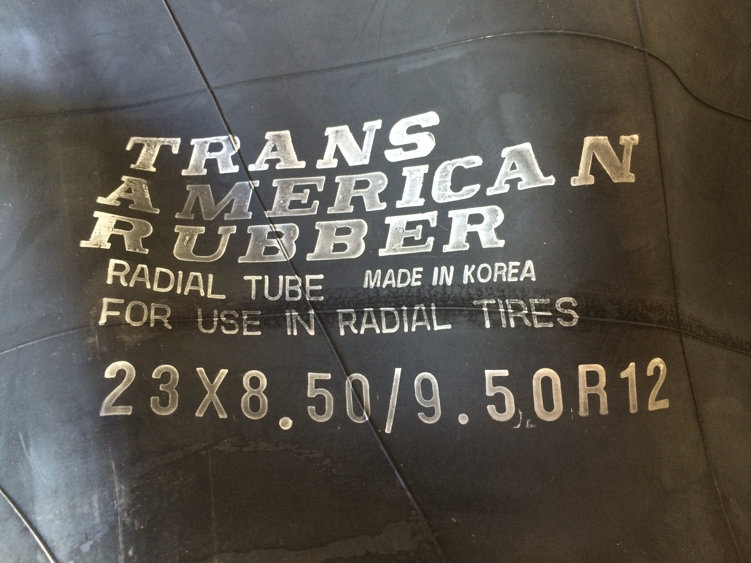 Trans American 23x8.50-12 / 23x9.50-12 / 23x10.50-12 Inner Tube with TR-13 Straight Valve Stem by T A R