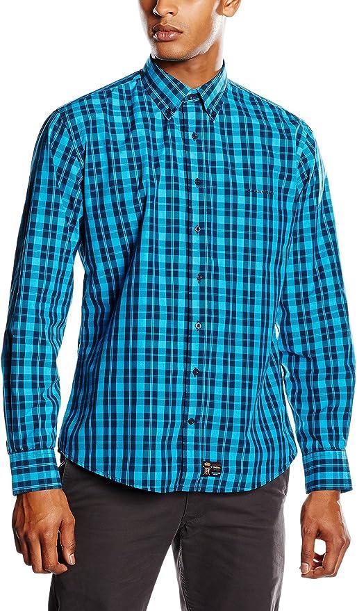 Spagnolo Camisa Hombre Turquesa XS (01): Amazon.es: Ropa y accesorios