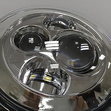 7 Zoll Led Scheinwerfer Daymaker 4 5 Zoll Nebelscheinwerfer Halterungsadapterring Für Harley Davidson Touring Electra Glide Straße King Street Glide Ultra Limitierte Trike Softail Deluxe Auto