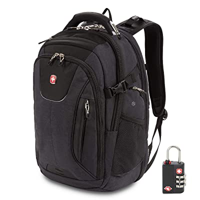 SwissGear 5358 USB ScanSmart Laptop Backpack. Abrasion-Resistant & Travel-Friendly Laptop Backpack Exclusive Bundle