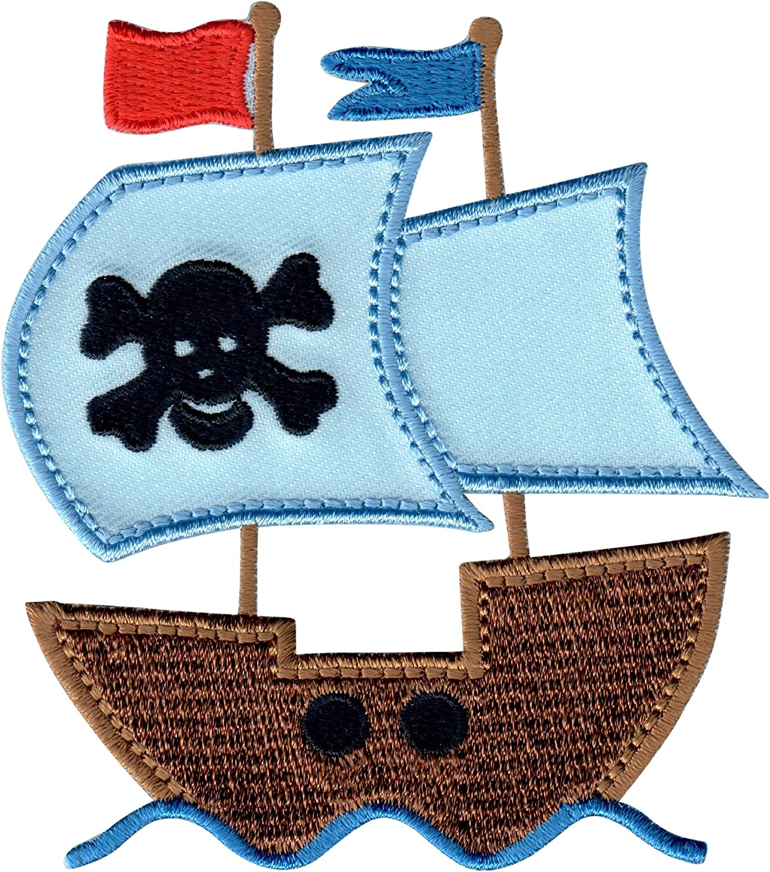 PatchMommy Barco Pirata Parche Termoadhesivo Parche Bordado ...