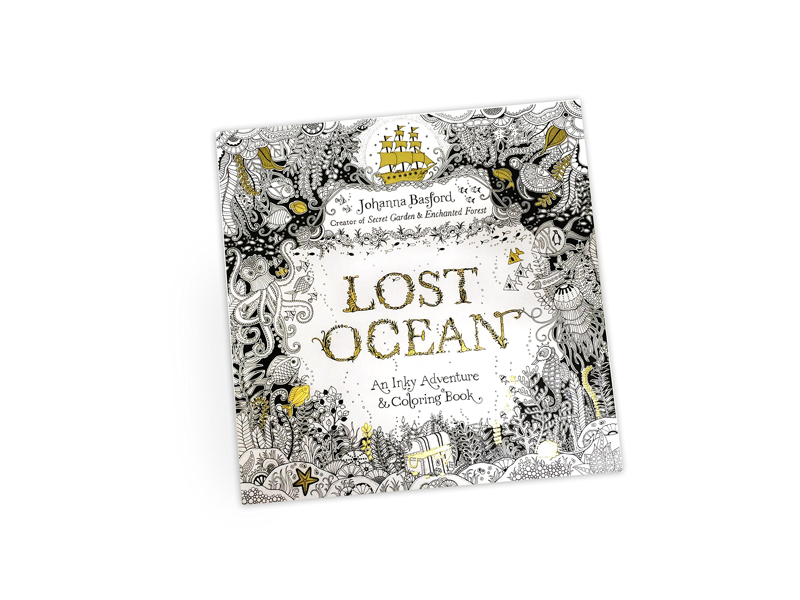 Lost Ocean An Inky Adventure And Coloring Book For Adults Amazonca Johanna Basford Books
