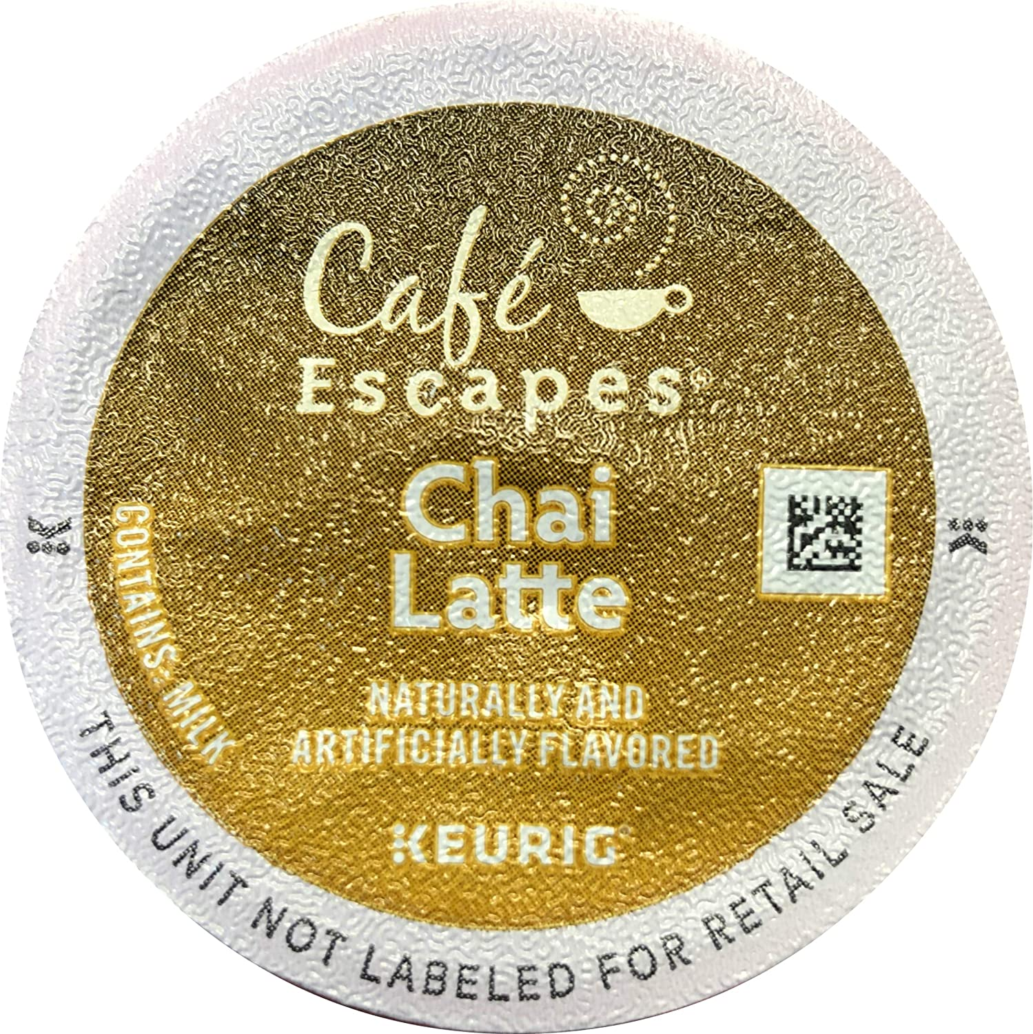 Cafe Escapes Chai Latte K-Cups, 16 Count (Packaging May Vary)