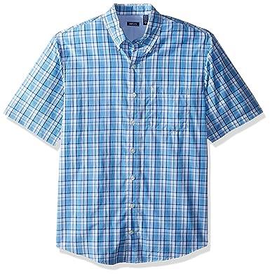 49f4f832208 Amazon.com  IZOD Men s Big and Tall Breeze Short Sleeve Button Down Plaid  Shirt  Clothing