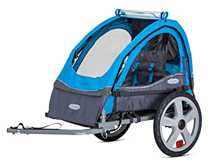 a1375c75412 InStep Single Seat and Double Seat Foldable Tow Behind Bike Trailers,  Featuring 2-in-1 Canopy and 16-Inch Wheels, for Kids and Children, Multiple  Colors ...