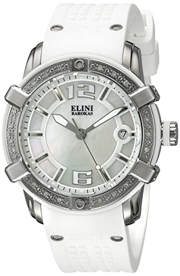 Reloj - Elini Barokas - para Mujer - ELINI-20005D-02-WHT: Amazon.es: Relojes