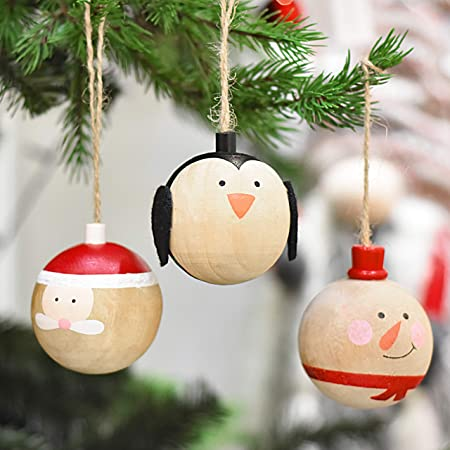 victor s workshop 3pcs wooden christmas decorations 2 4 6cm red christmas baubles ornaments wooden pendants for christmas tree decorations amazon co uk kitchen home victor s workshop 3pcs wooden christmas decorations 2 4 6cm red christmas baubles ornaments wooden pendants for christmas tree decorations