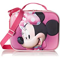 Disney-2100002267 Minnie Portamerienda Térmico 3D, Multicolor, 23 cm